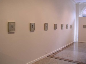 The paintings installed at Aucocisco Gallery